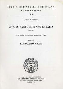 Vita di santo Stefano Sabaita - Bartolomeo Pirone