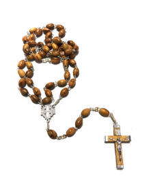 Rosario con Cristo argentato