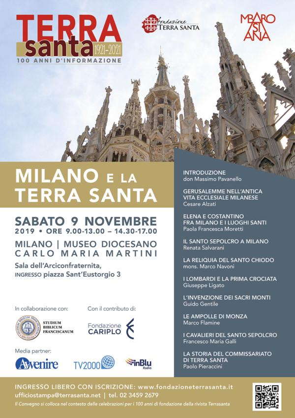 09.11.19 – Milano e la Terra Santa