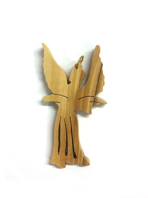 Ornamento Angelo traforato con ali piegate