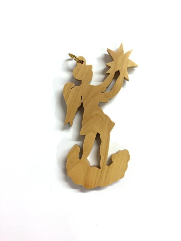 Ornamento Angelo traforato con stella