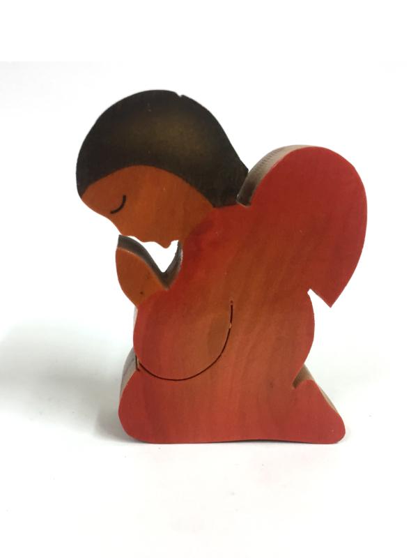 Angioletto colorato rosso