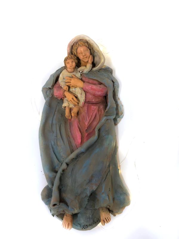 Madonna con bambino in terracotta