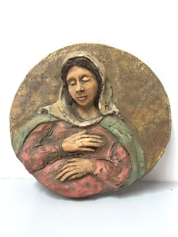Madonna in terracotta rotonda