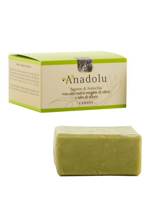 """Sapone di Antiochia """"Anadolu"""" con olio di oliva e olio di alloro 25%"""