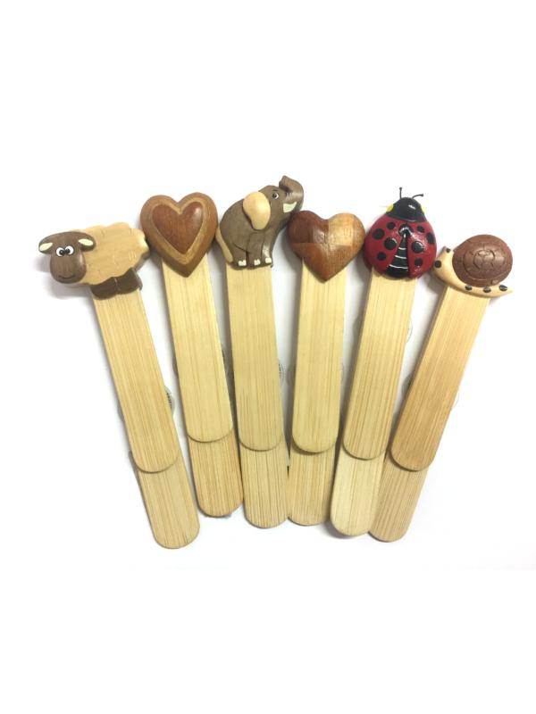 Segnalibri in legno con animaletti vari