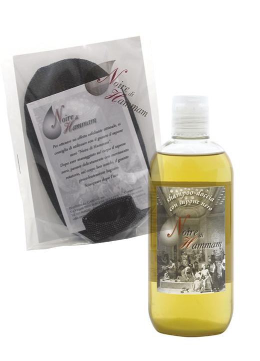 """Kit: Shampoo-doccia + Guanto esfoliante """"Noire di Hammam"""""""