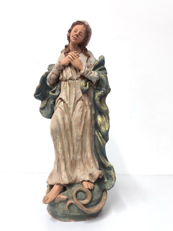 Statua con Madonna in terracotta