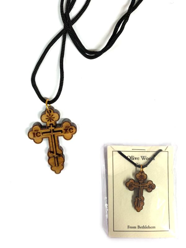 Ciondolo con doppia croce e cordino