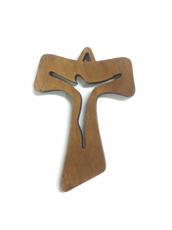Ciondolo con croce e Cristo traforato e stilizzato