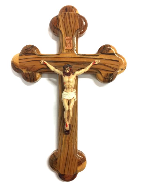 Crocefisso in legno con Cristo dipinto h 22