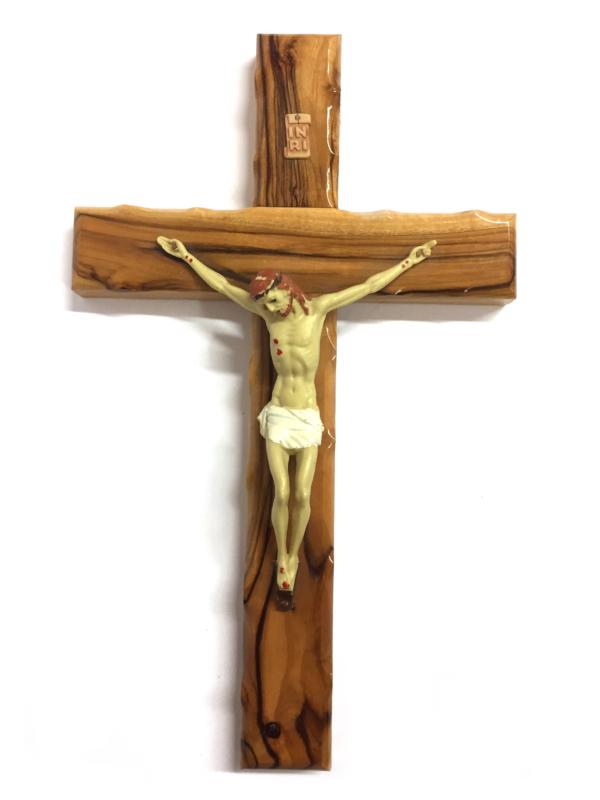 Crocefisso in legno con Cristo dipinto h 25