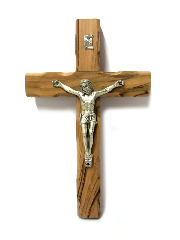 Crocefisso stilizzato con Cristo argento