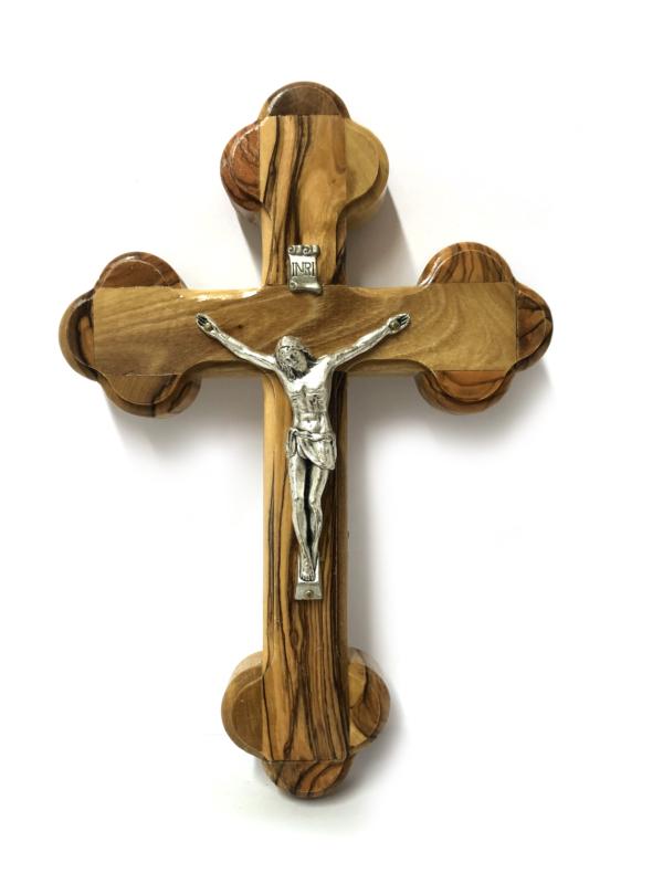 Crocefisso stondato con Cristo argentato
