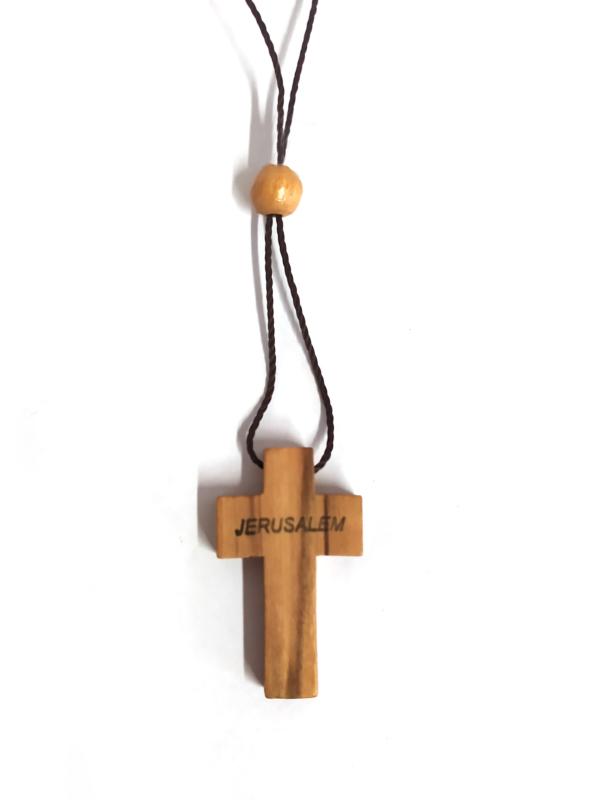 Ciondolo con croce con scritta Jerusalem