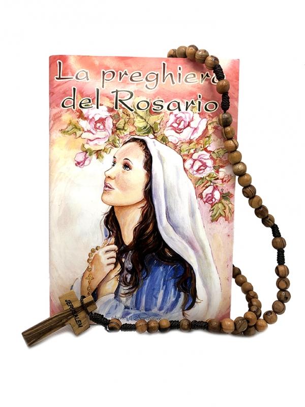 Rosario con croce latina con preghiera