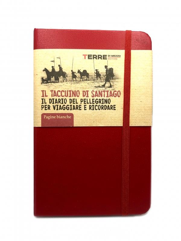 Il taccuino di Santiago – rosso con pagine bianche